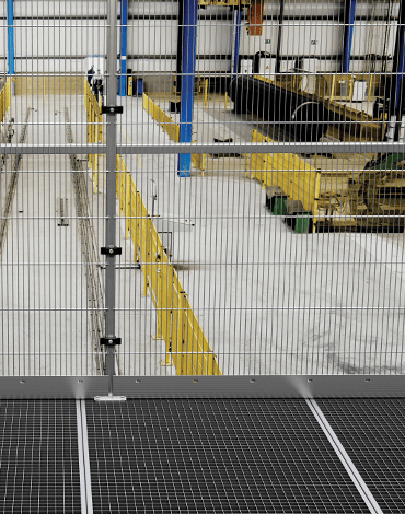 ECONFENCE BASIC LINE Zone Protection Frameless modular design