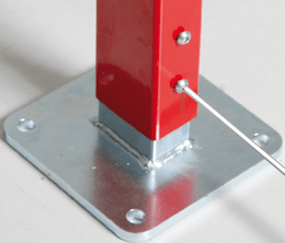 ECONFENCE HIGH LINE Height-adjustable base plate