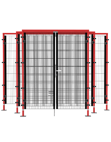 ECONFENCE HIGH LINE 2-leaf mesh doors